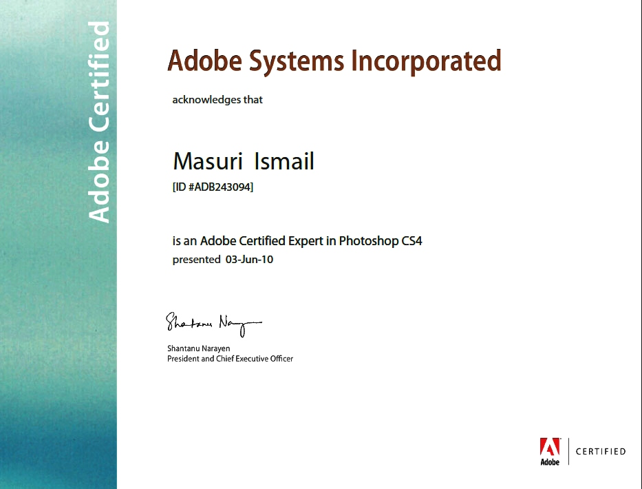Document-Adobe Certified Expert in Photoshop -certificate template-psd-doc-editable