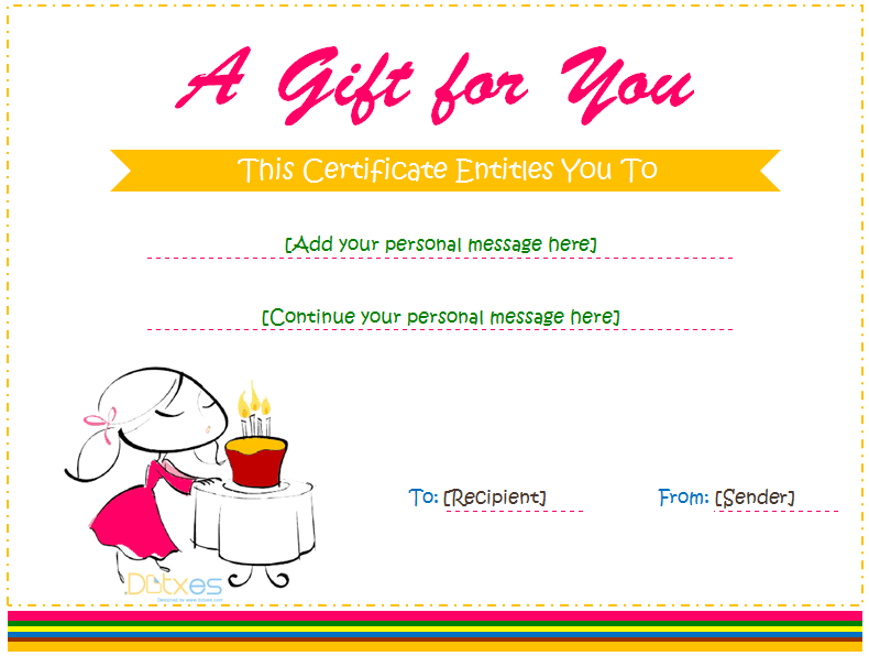 Free Birthday Gift Certificate Templates