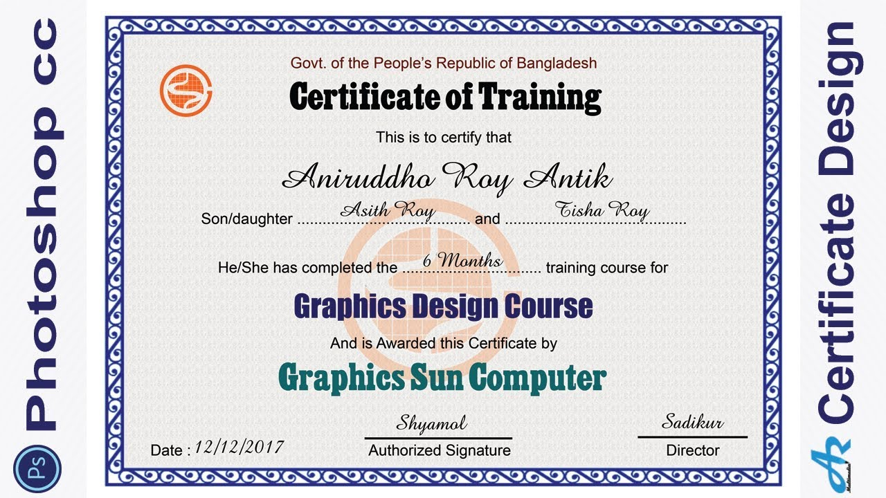 Certificate Template Printable Editable Design For