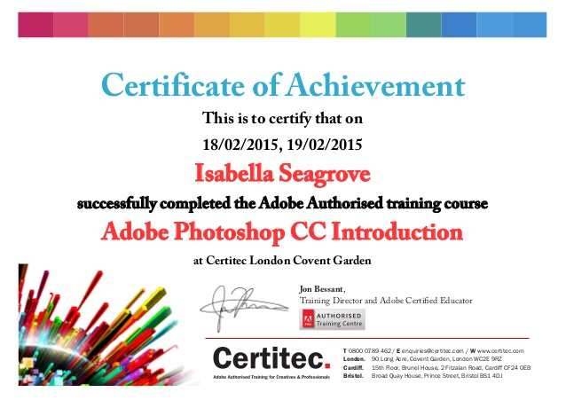 Graphic Design Certification Exam