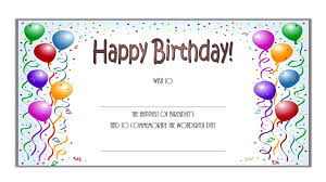 birthday certificate free gift printable