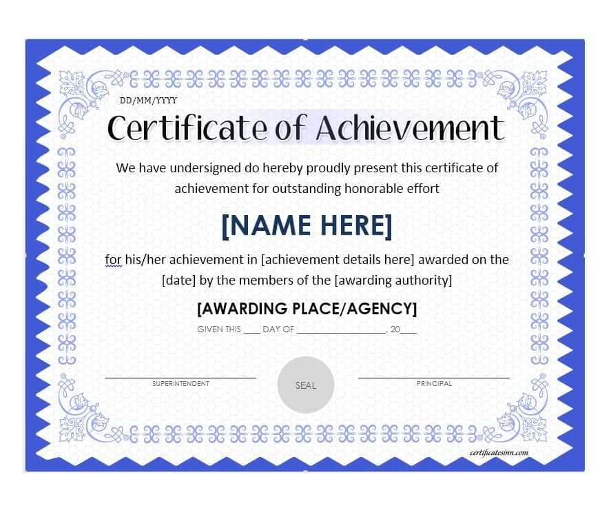 picture relating to Free Printable Certificate of Achievement referred to as Certification-of-Results-Template-document-down load-editable