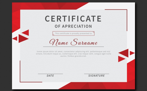 certificate-of-recognition-with-red-triangles-certificate-of-academic-achievement-template-doc-docx-editable