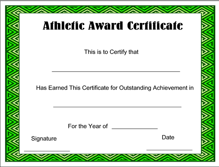 photograph relating to Free Printable Sports Certificates identified as Athletics Certification Templates Certification Template Downloads